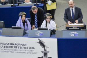 MURAD BASEE, Nadia; AJI BASHAR, Lamiya; SCHULZ, Martin (S&D, DE) - EP President